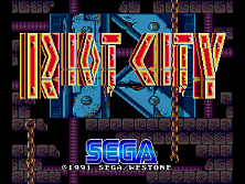 Riot City (Japan) Title Screen