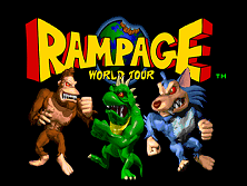 Rampage: World Tour (rev 1.3) Title Screen