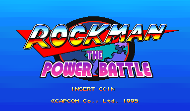 Rockman: The Power Battle (CPS1, Japan 950922) Title Screen