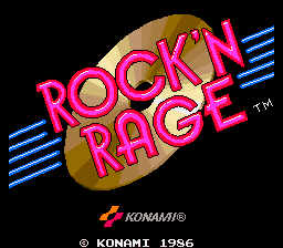 Rock'n Rage (World) Title Screen