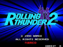 Rolling Thunder 2 Title Screen