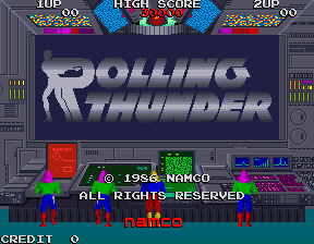 Rolling Thunder (rev 3) Title Screen
