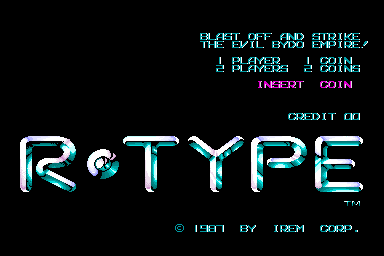 R-Type (World) Title Screen