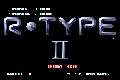 R-Type II (Japan, revision C) Title Screen