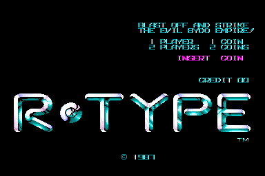 R-Type (World bootleg) Title Screen