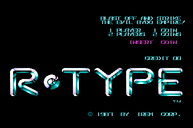 R-Type (Japan) Title Screen