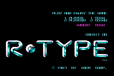 R-Type (Japan prototype) Title Screen