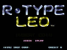 R-Type Leo (World) Title Screen