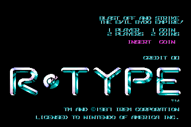 R-Type (US) Title Screen