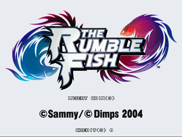 The Rumble Fish Title Screen