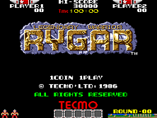 Rygar (US set 1) Title Screen