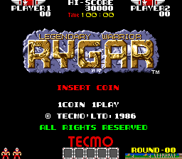 Rygar (US set 2) Title Screen