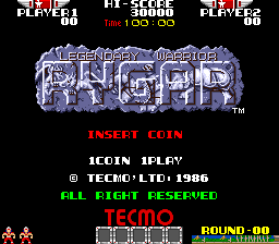 Rygar (US set 3 Old Version) Title Screen