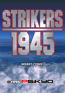 Strikers 1945 (Korea) Title Screen