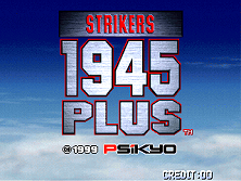 Strikers 1945 Plus Title Screen