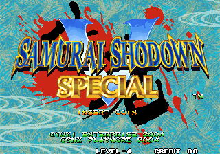 Samurai Shodown V Special / Samurai Spirits Zero Special (NGH-2720, 2nd release, less censored) Title Screen