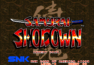 Samurai Shodown / Samurai Spirits (Set 1) Title Screen