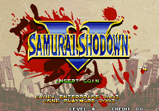 Samurai Shodown V / Samurai Spirits Zero (Set 1) Title Screen