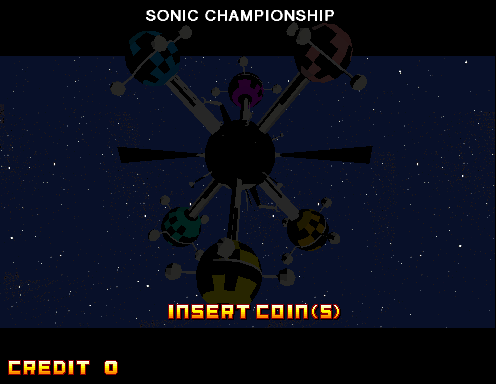 Sonic Championship (USA) Title Screen