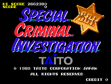 Special Criminal Investigation (World set 1) Title Screen
