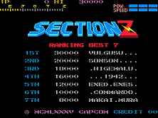 Section Z (set 1) Title Screen