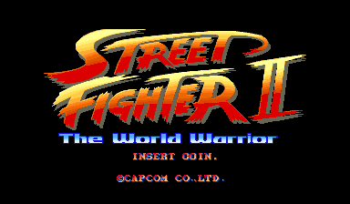 Street Fighter II: The World Warrior (World 910522) Title Screen
