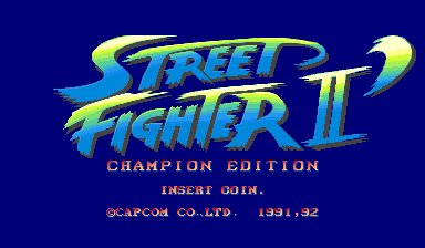Street Fighter II': Champion Edition (World 920313) Title Screen
