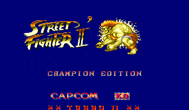 Street Fighter II': Champion Edition (Double K.O. Turbo II, bootleg) Title Screen