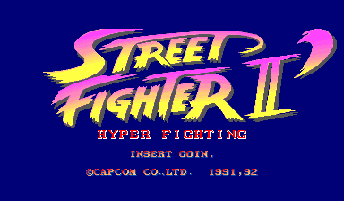 Street Fighter II': Hyper Fighting (World 921209) Title Screen