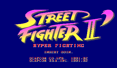 Street Fighter II': Hyper Fighting (USA 921209) Title Screen