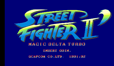 Street Fighter II': Magic Delta Turbo (bootleg, set 1) Title Screen