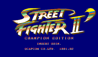 Street Fighter II': Champion Edition (Rainbow, bootleg, set 3) Title Screen