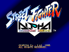 Street Fighter Alpha: Warriors' Dreams (Euro 950727) Title Screen
