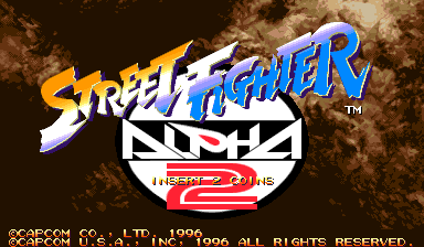 Street Fighter Alpha 2 (USA 960306) Title Screen