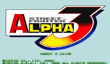 Street Fighter Alpha 3 (USA 980904 Phoenix Edition) (Bootleg) Title Screen