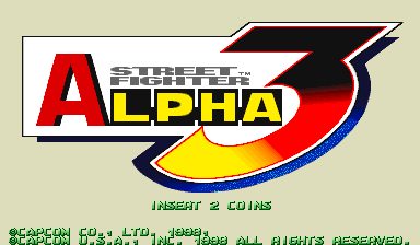 Street Fighter Alpha 3 (USA 980629) Title Screen