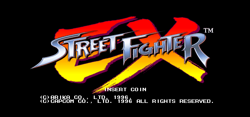 Street Fighter EX (Euro 961219) Title Screen