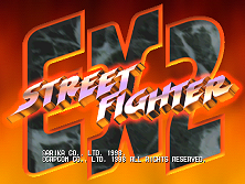 Street Fighter EX2 (USA 980526) Title Screen