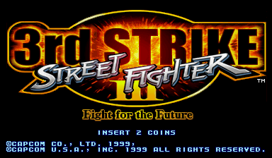 Street Fighter III 3rd Strike: Fight for the Future (Euro 990608) Title Screen