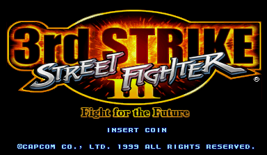 Street Fighter III 3rd Strike: Fight for the Future (Japan 990608, NO CD) Title Screen