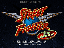 Street Fighter: The Movie (v1.12) Title Screen