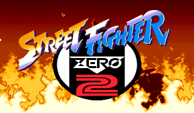 Street Fighter Zero 2 (Oceania 960229) Title Screen