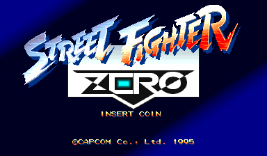 Street Fighter Zero (Japan 950605) Title Screen