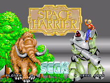 Space Harrier (Rev A, 8751 315-5163A) Title Screen