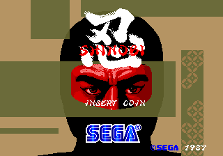 Shinobi (set 3, System 16B) (MC-8123B 317-0054) Title Screen