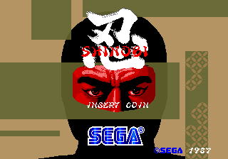 Shinobi (set 5, System 16B) (unprotected) Title Screen