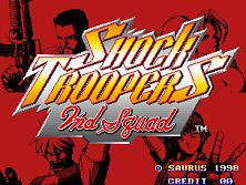 Shock Troopers: 2nd Squad Title Screen