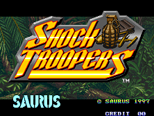 Shock Troopers (Set 1) Title Screen