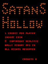 Satan's Hollow (set 1) Title Screen