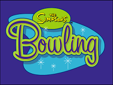 Simpsons Bowling (GQ829 UAA) Title Screen
